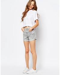 Short en denim gris WÅVEN