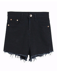 Short en denim noir