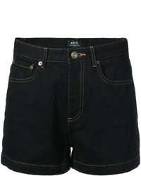 Short en denim noir A.P.C.