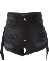Short en denim noir Philipp Plein