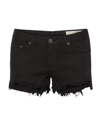 Short en denim noir Rag & Bone