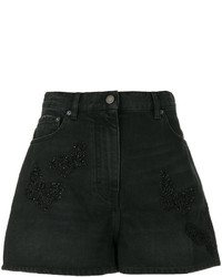 Short en denim noir Valentino