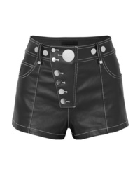 Short en denim orné noir Alexander Wang