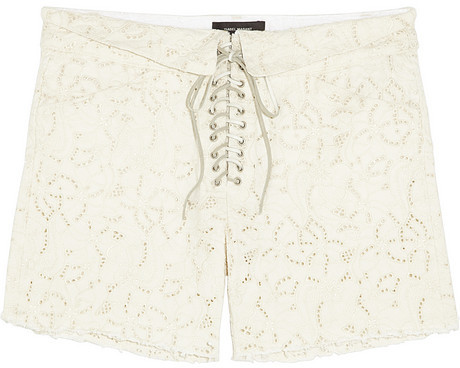low price sale online outlet for sale Short en dentelle blanc Isabel Marant