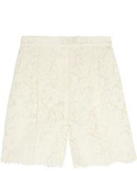 Short en dentelle blanc Valentino