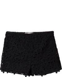 Short en dentelle noir Valentino