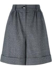 Short en laine à carreaux noir Dolce & Gabbana