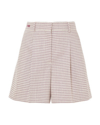 Short en laine à carreaux rose Fendi