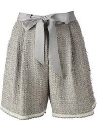 Short en laine gris Lanvin