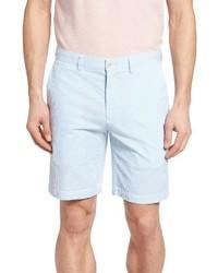 Short en seersucker à rayures verticales bleu clair