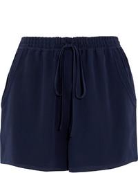 Short en soie bleu marine Chloé