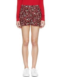 Short en soie imprimé léopard rouge Stella McCartney