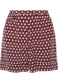Short en soie imprimé rouge Marc Jacobs