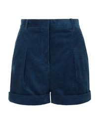 Short en velours côtelé bleu marine Stella McCartney