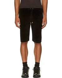 Short en velours noir Versace