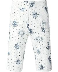 Short imprimé blanc et bleu Alexander McQueen