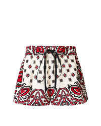 Short imprimé blanc et rouge RED Valentino