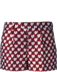 Short imprimé bordeaux RED Valentino