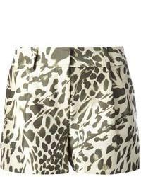 Short imprimé léopard blanc et noir Diane von Furstenberg