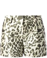 Short imprimé léopard marron clair Diane von Furstenberg