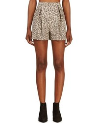 Short imprimé léopard marron clair Giambattista Valli