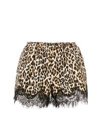 Short imprimé léopard marron clair Gold Hawk