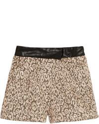 Short imprimé léopard marron clair Maje