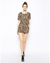 Short imprimé léopard marron clair Oh My Love