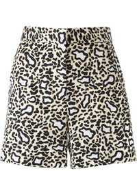 Short imprimé léopard marron clair Stella McCartney