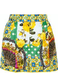 Short imprimé vert Dolce & Gabbana