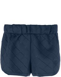 Short matelassé bleu marine adidas