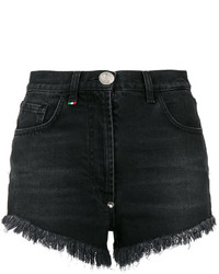 Short pailleté noir Philipp Plein