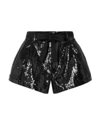 Short pailleté noir Saint Laurent