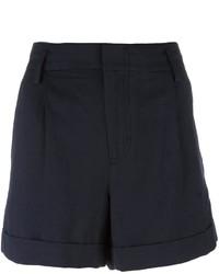 Short plissé bleu marine Vince