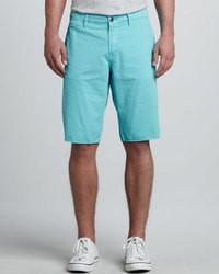 Short turquoise