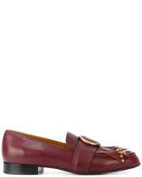 Slippers à franges rouges Chloé