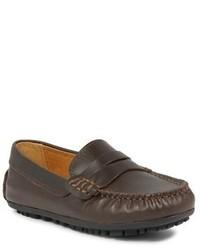 Slippers bruns foncés