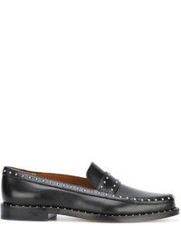 Slippers en cuir à clous noirs Givenchy