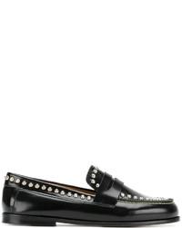 Slippers en cuir à clous noirs Isabel Marant