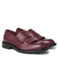 Slippers en cuir bordeaux Bottega Veneta