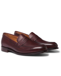 Slippers en cuir bordeaux Cheaney