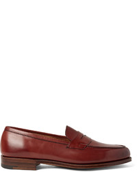 Slippers en cuir bordeaux Edward Green