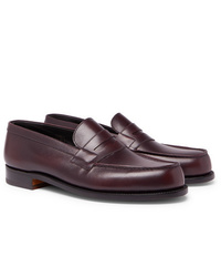 Slippers en cuir bordeaux J.M. Weston