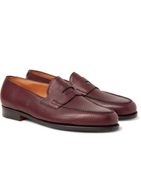 Slippers en cuir bordeaux John Lobb