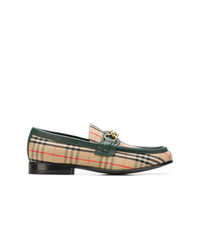 Slippers en cuir bruns clairs Burberry