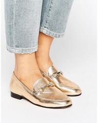Slippers en cuir dorés Carvela
