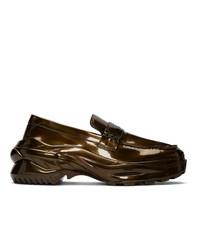 Slippers en cuir dorés Maison Margiela