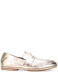 Slippers en cuir dorés Marsèll