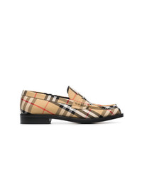 Slippers en cuir marron clair Burberry