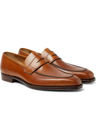 Slippers en cuir marron clair George Cleverley